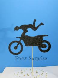motocross bike cake dirt bike cake topper black glitter dirt bike bicycle party