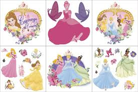 disney princess wall decals totally kids bedrooms blue mountain wallcoverings princess and pearls self stick wall decorating kit
