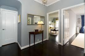 dark wood floor foyer with my favorite blue paint favorite