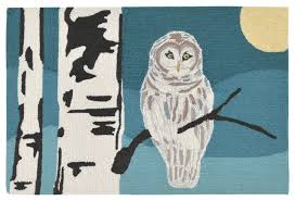 Rustic Outdoor Rugs Frontporch Snowy Owl Rug Rustic Outdoor Rugs By Liora Manne