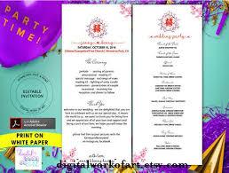 tea length wedding programs templates free 17 best wedding programs images on rustic wedding