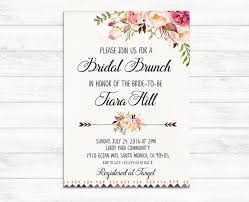 bridal brunch invitations bridal brunch invitation printable bridal invite floral bridal