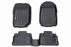heavy duty fitted floor mat set front rear for 2007 2013 jeep jk