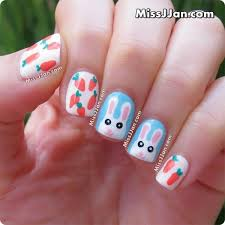 missjjan u0027s beauty blog tutorial easter bunny nail art