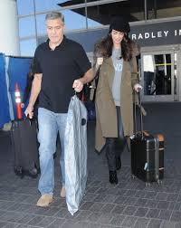 Twin Pregnancy Halloween Costumes George Amal Clooney Expecting Twins Celebrity Zimbio