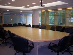 simple design for conference room with light brown wooden meeting