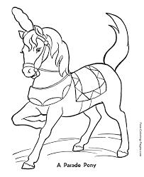 horse coloring sheets print circus