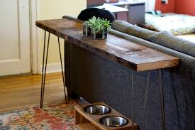 console table behind sofa living room on pinterest plywood shelves pallet fireplace and