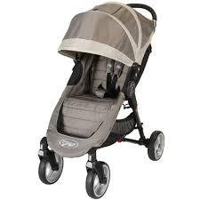 Baby Jogger City Mini Rain Canopy by Baby Jogger City Mini 4 Wheel Single Stroller In Sand