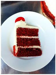 slice of red velvet cake picture of la rocca cafe richmond hill
