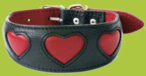afghan hound collars uk red hearts hound collar soft padded leather collar