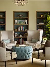 elegant blue tufted ottoman threshold round tufted blue ottoman