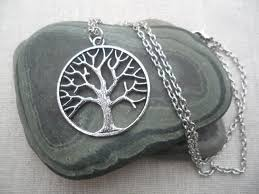 silver tree necklace tree of silver necklace tree jewelry