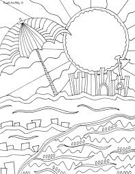 Beach Coloring pages Doodle Art Alley