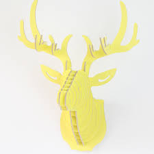 creative 3d craft animal deer head wall hangers wood home decor