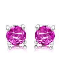 byjoy jewellery byjoy 925 cut pink sapphire stud earrings jewellery