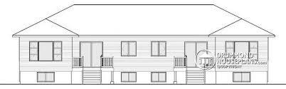 4 Bedroom Open Concept Floor Plans Multi Family Plan W3063 Detail From Drummondhouseplans Com