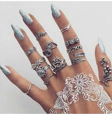 silver rings set images Jewels ring silver jewelry knuckle ring ring rings and tings jpg