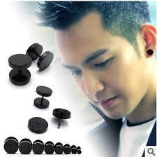 hip earrings hot sell rock hip hop circular black men s titanium
