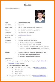 Resume Examples Secretary Bio Data Resume Sample Resume For Your Job Application