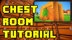 minecraft simple chest storage room ideas tutorial xbox pe ps3 pc