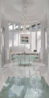 Modern Bathroom Chandeliers Bathrooms With Glittering Chandeliers