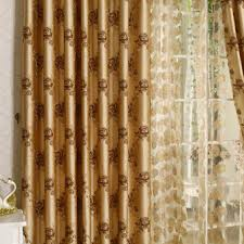 Gold Thermal Curtains Special Designed Champagne Flower Printing Thermal Curtains Buy