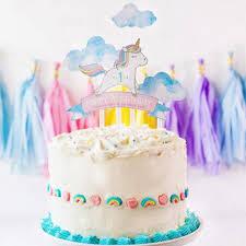 unicorn cake topper 2018 rainbow unicorn cake topper baby shower birthday party decor