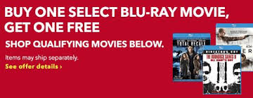 best buy deal b1g1 blu ray movie sale starting at 4 99