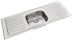Pyramis Single Bowl Double Drainer Sink Double Draining Board - Double drainer kitchen sink