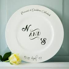 anniversary plate monogram wedding or anniversary plate by seahorse