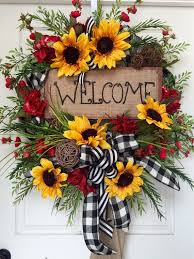 sunflower mesh wreath wreaths extraordinary springtime wreaths springtime wreaths