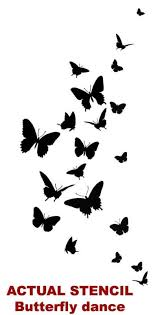 8 best images of free printable butterfly stencils for walls
