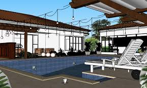 pool house night scene by horacio kramer kramer 614