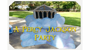 a percy jackson party sophie u0027s world