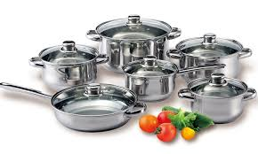home pans diamond home 12 piece stainless steel cookware set check back