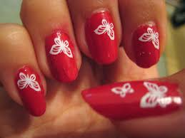 red wings nail art choice image nail art designs