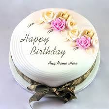 name birthday cake with roses