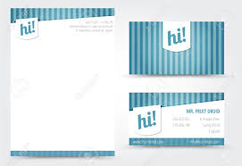 Business Card And Letterhead Design Template Letter And Business Card Template Royalty Free Cliparts Vectors