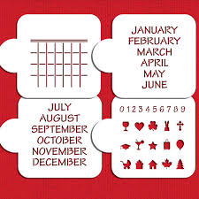 calendar save the date save the date calendar cookie stencil set