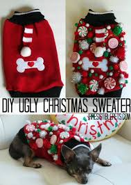 sweater with dogs on it diy sweater for dogs uglysweaterchallenge