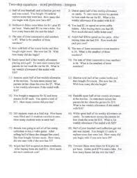 two step equations word problems worksheet free worksheets library