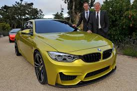 green bmw m4 bmw m4 coupe revealed pictures bmw m4 front tracking auto express