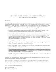 ideas collection letter of recommendation template for college