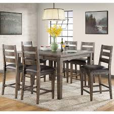 solid wood counter height table sets glenwood 7 piece rustic solid wood counter height dining set