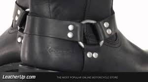 black leather moto boots 1442 xelement men u0027s classic motorcycle harness biker boot at