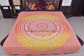 Tapestry Duvet Hippie Ethnic Indian Ombre Mandala Duvet Cover Quilt Cover Cotton
