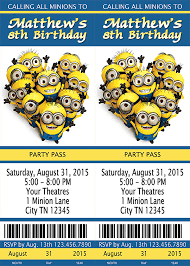 design exquisite minion birthday party invitations templates