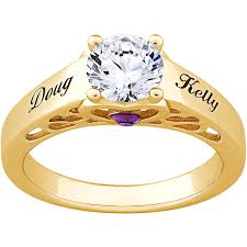 personalized gold rings personalized gold sterling silver s name birthstone