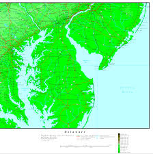 Cape Henlopen State Park Map by Delaware Map Online Maps Of Delaware State